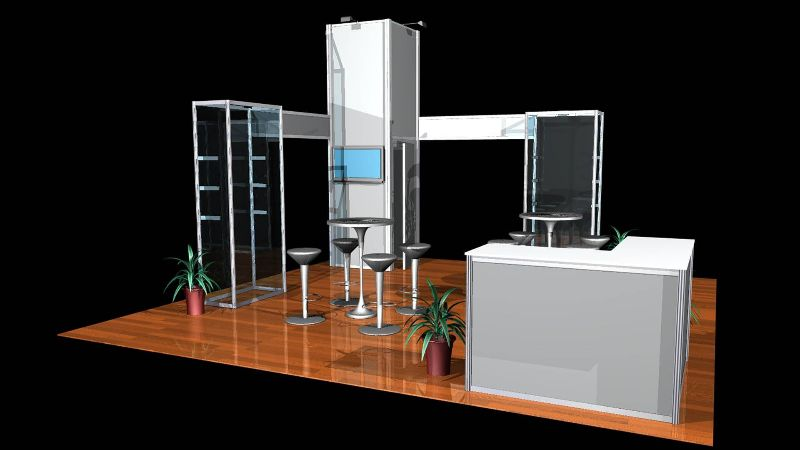 Miami Trade Show Exhibit Booth Nomadic Display
